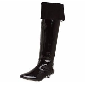 Zara Patent Leather tall boots